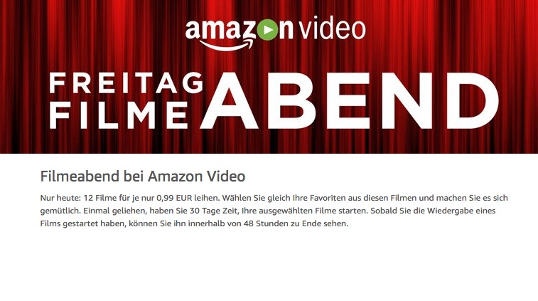 Amazon Video Freitag Filme Abend