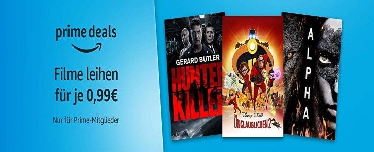 Amazon Prime – 12 Filme je 0,99 € mit Hunter Killer und Ballon